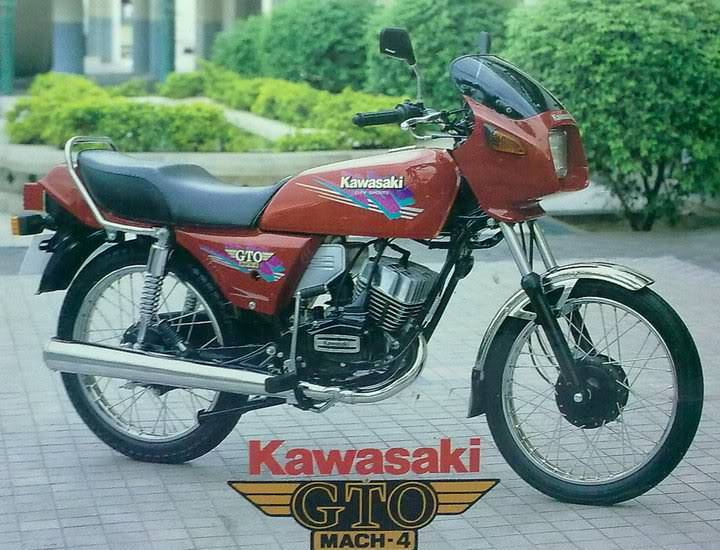 Kawasaki 125 Cc Gto Mach 4 Charcoal Gasification Drive On Wood